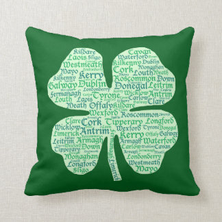 Counties of Ireland Shamrock Cushion