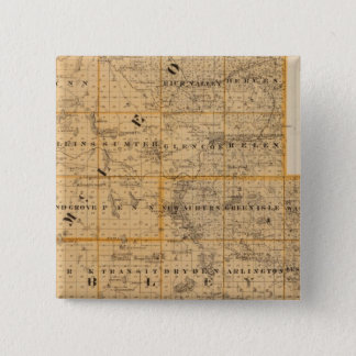 Counties of McLeod and Sibley, Minnesota 15 Cm Square Badge