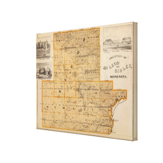 Counties of McLeod and Sibley, Minnesota Canvas Print