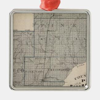 Counties of Pine, Kanabec, Minnesota Christmas Ornament