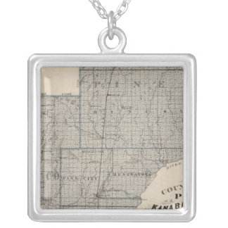 Counties of Pine, Kanabec, Minnesota Silver Plated Necklace