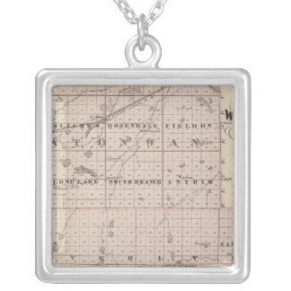 Counties of Watonwan and Martin, Minnesota Silver Plated Necklace