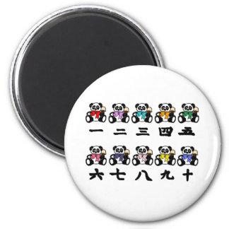 Counting Chinese Pandas Fridge Magnet