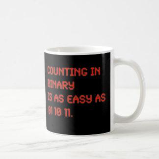 Counting in Binary Basic White Mug
