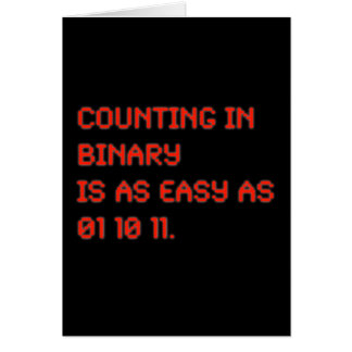 Counting in Binary Card