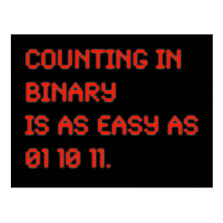 Counting in Binary Postcards