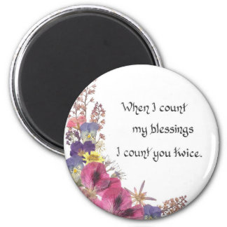 Counting my Blessings 6 Cm Round Magnet