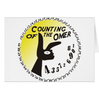 Counting of the Omer Note Card