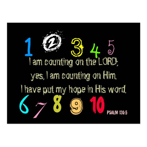 Counting On The Lord Post Card
