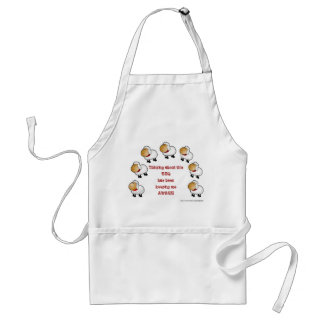 Counting sheep BBQ funny humorous Standard Apron