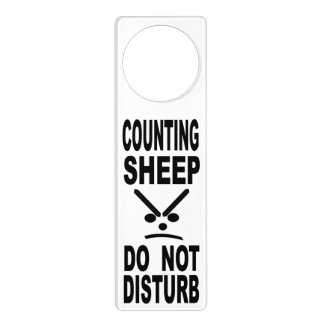 Counting Sheep Do Not Disturb Door Hanger