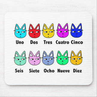 Counting Spanish Cats Mouse Mat