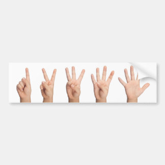 Counting to five bumper sticker
