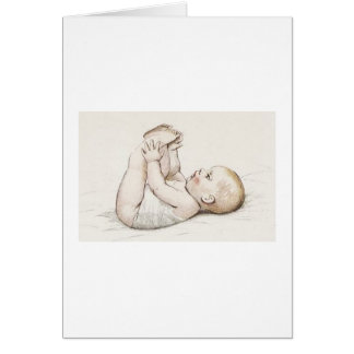 Counting Toes Greeting Card