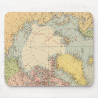 Countries round North Pole Mouse Mat