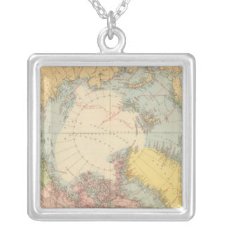 Countries round North Pole Silver Plated Necklace