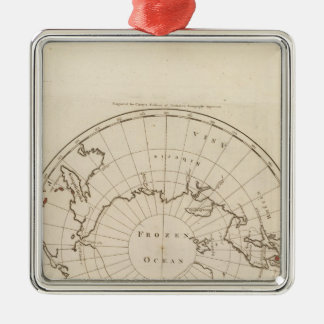Countries situate about the North Pole Christmas Ornament