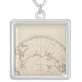 Countries situate about the North Pole Silver Plated Necklace