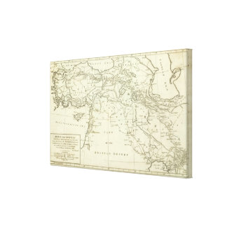 Countries Situated between Shiraz Canvas Print