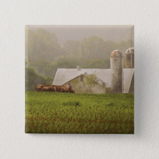 Country - Amish Farming 15 Cm Square Badge