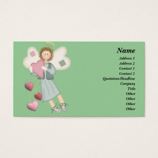 Country Angel with Hearts Business Card