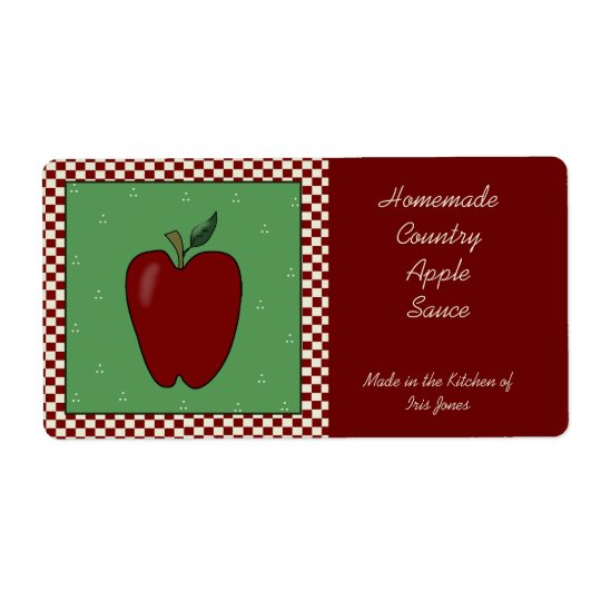 Country Apple Sauce Label Shipping Label
