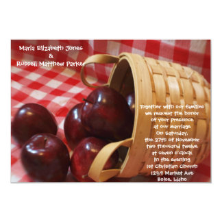 Country Apple Wedding Card