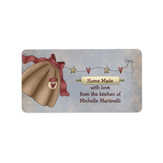 Country Apron Kitchen Gift Label Address Label