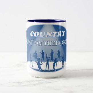 COUNTRY Artist On Their Grind 2 Tone 15 oz Mug