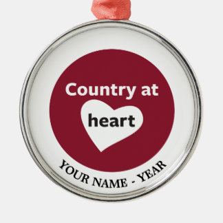 Country at Heart Christmas Ornament