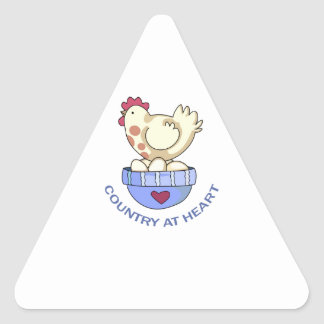 COUNTRY AT HEART HEN TRIANGLE STICKER