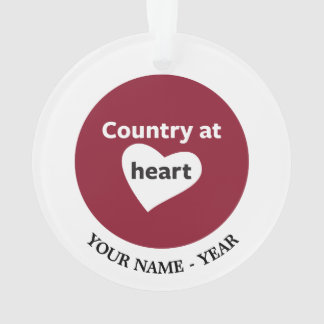 Country at Heart Ornament