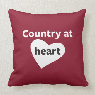 Country at Heart Throw Pillow
