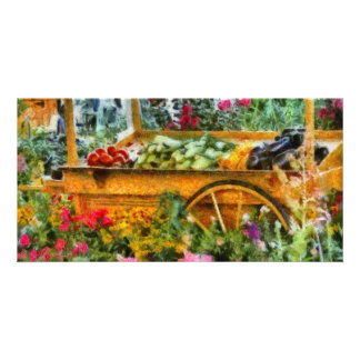 Country - At the farmers market Photo Card Template