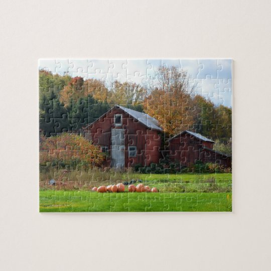 Country Autumn Pumpkin scene jigsaw puzzle