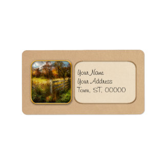 Country - Autumn years Address Label