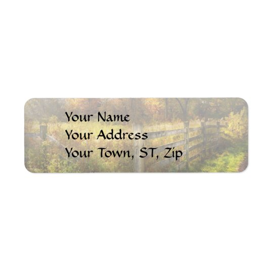 Country - Autumn years Return Address Label