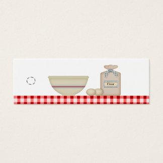 Country Baking Hang Tag Mini Business Card