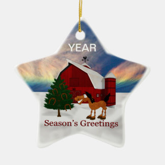 Country Barn Christmas Ornament