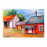 Country Barn Row in Ohio Post Card