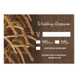 Country Barn Rustic Hay Wheat Wedding RSVP Cards 9 Cm X 13 Cm Invitation Card