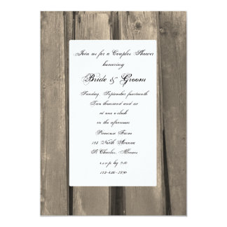 Country Barn Wood Couples Wedding Shower 13 Cm X 18 Cm Invitation Card