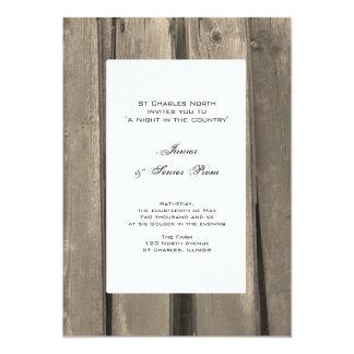 Country Barn Wood Junior / Senior Prom Invitations