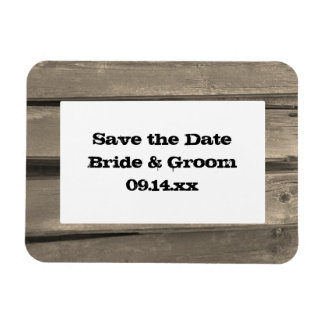 Country Barn Wood Wedding Save the Date Magnet