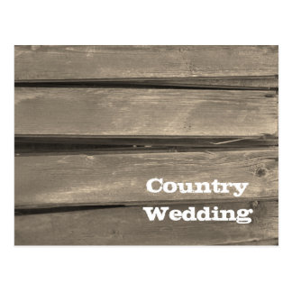 Country Barn Wood Wedding Save the Date Postcard
