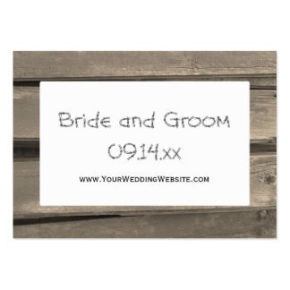 Country Barn Wood Wedding Website Card Pack Of Chubby Business Cards