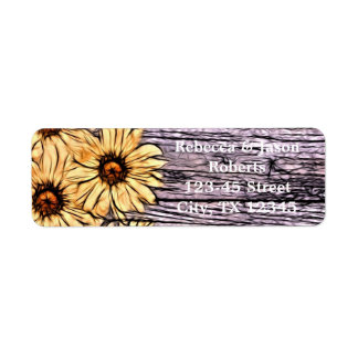 country barn wood yellow sunflower wedding