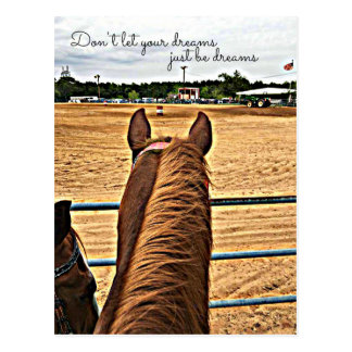 Country Barrel Racer Cowgirl Motivational Postcard