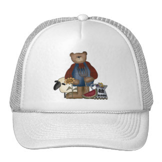 Country Bear 4th Birthday Gifts Trucker Hat