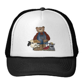 Country Bear 4th Birthday Gifts Mesh Hat
